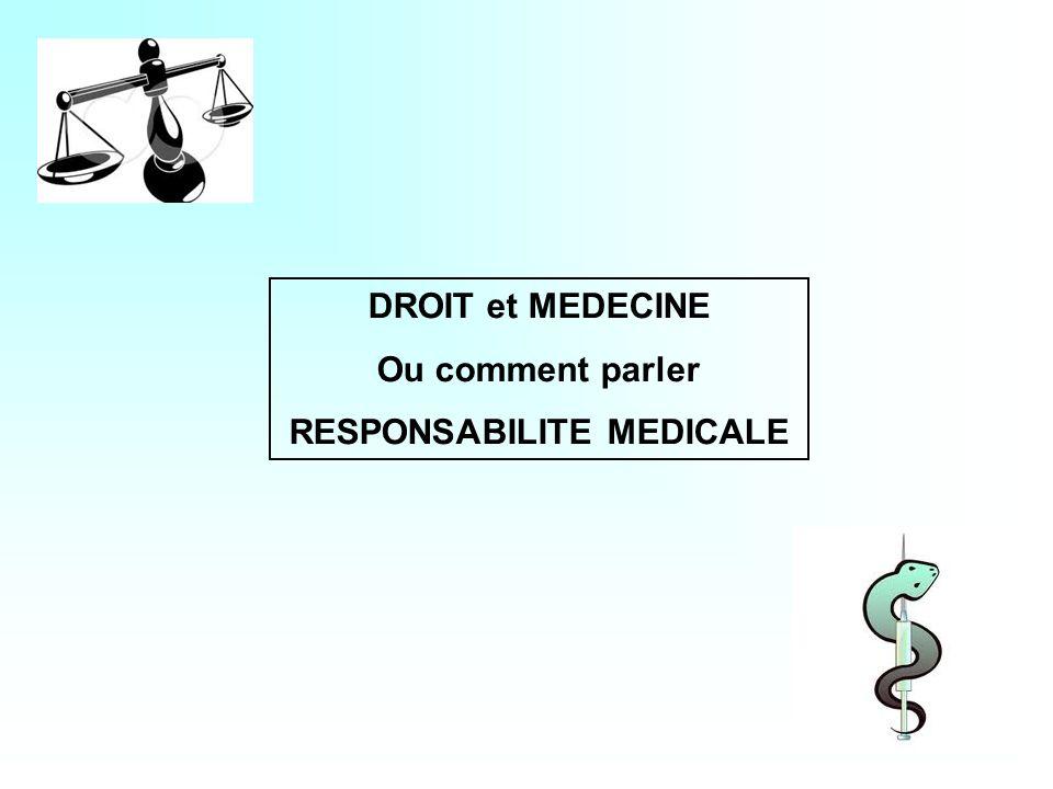 RESPONSABILITE MEDICALE
