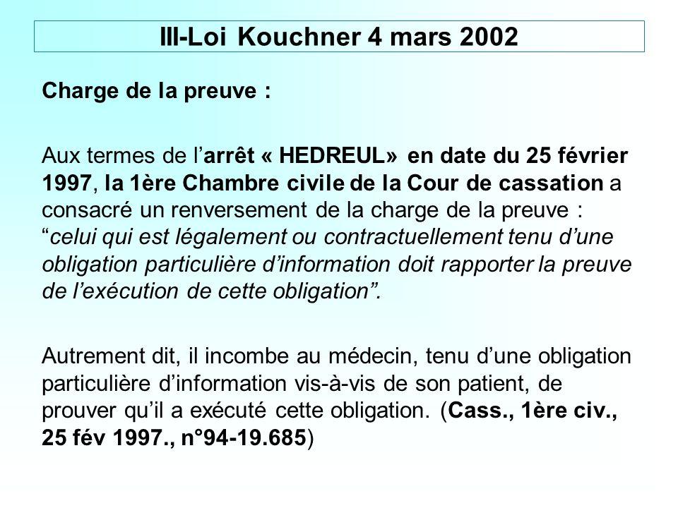 III-Loi Kouchner 4 mars 2002