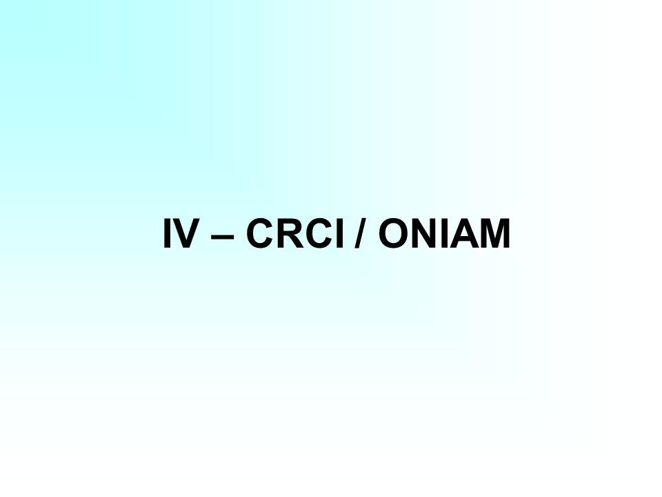 IV – CRCI / ONIAM