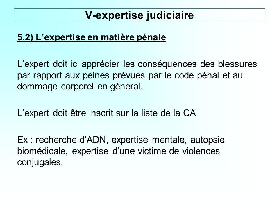 V-expertise judiciaire