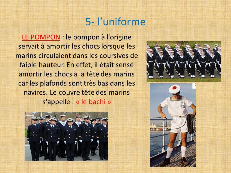 5- l'uniforme