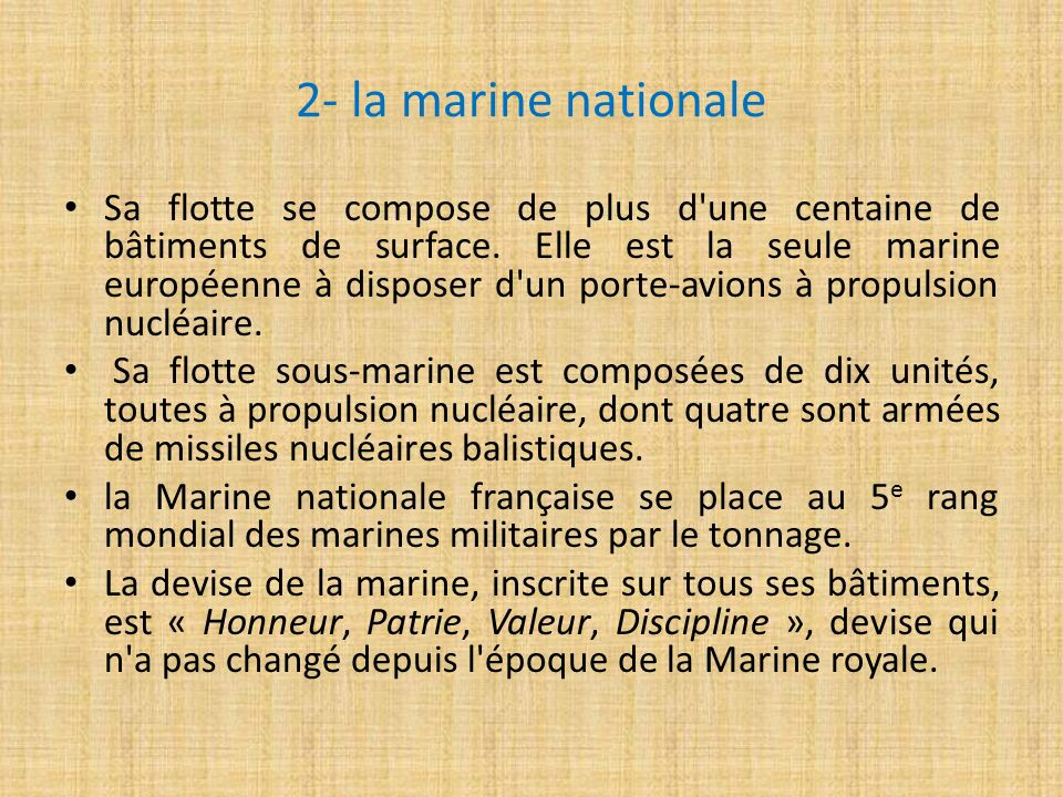 2- la marine nationale
