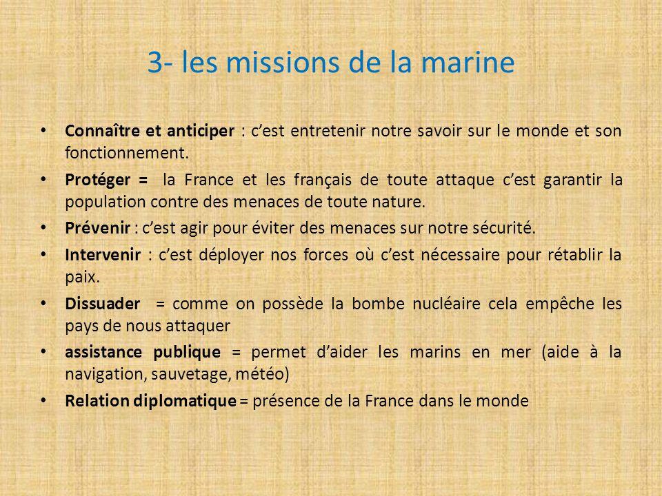 3- les missions de la marine