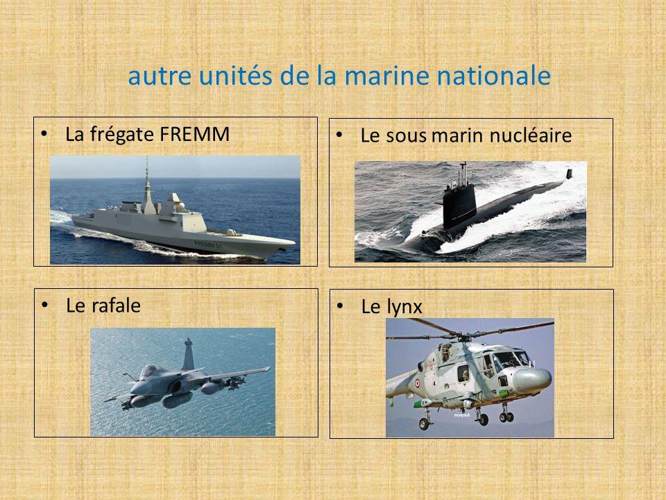 autre unités de la marine nationale