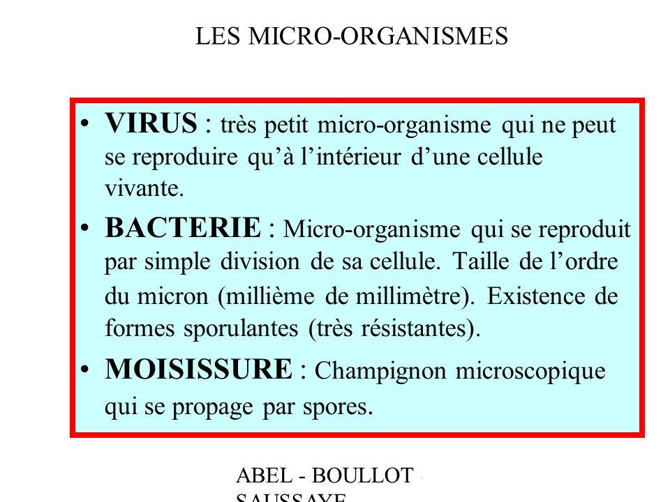 MOISISSURE : Champignon microscopique qui se propage par spores.