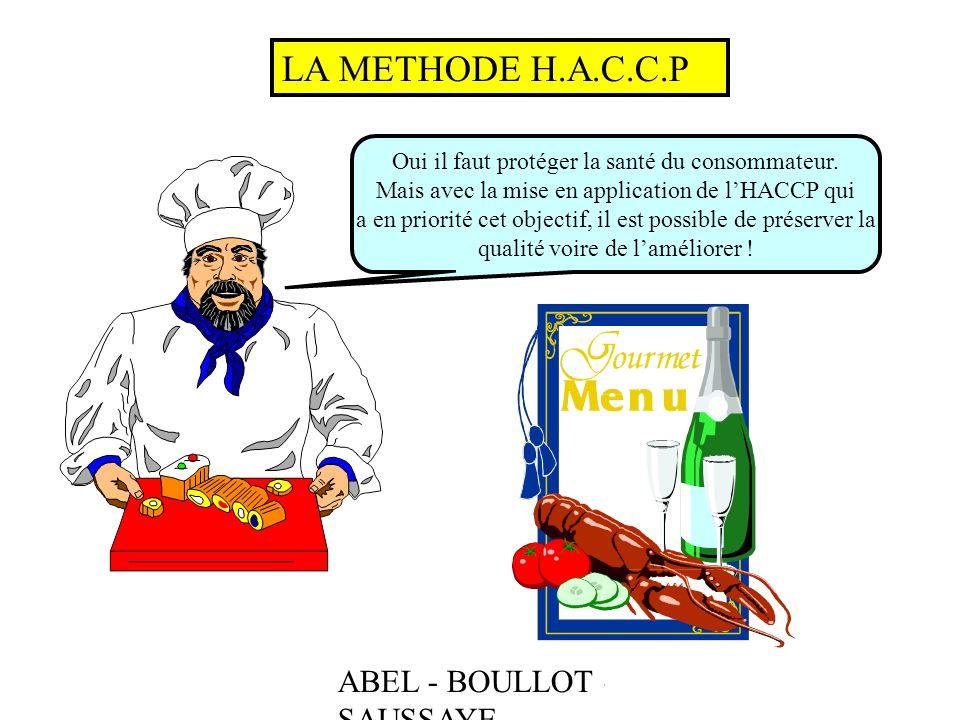 LA METHODE H.A.C.C.P ABEL - BOULLOT - SAUSSAYE