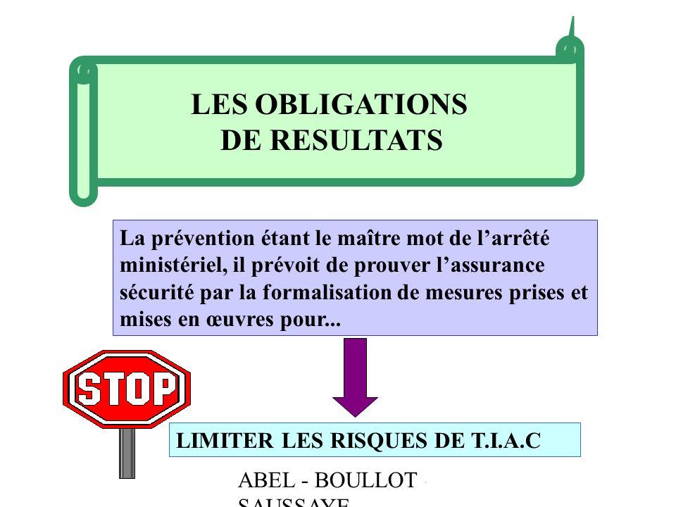 LES OBLIGATIONS DE RESULTATS