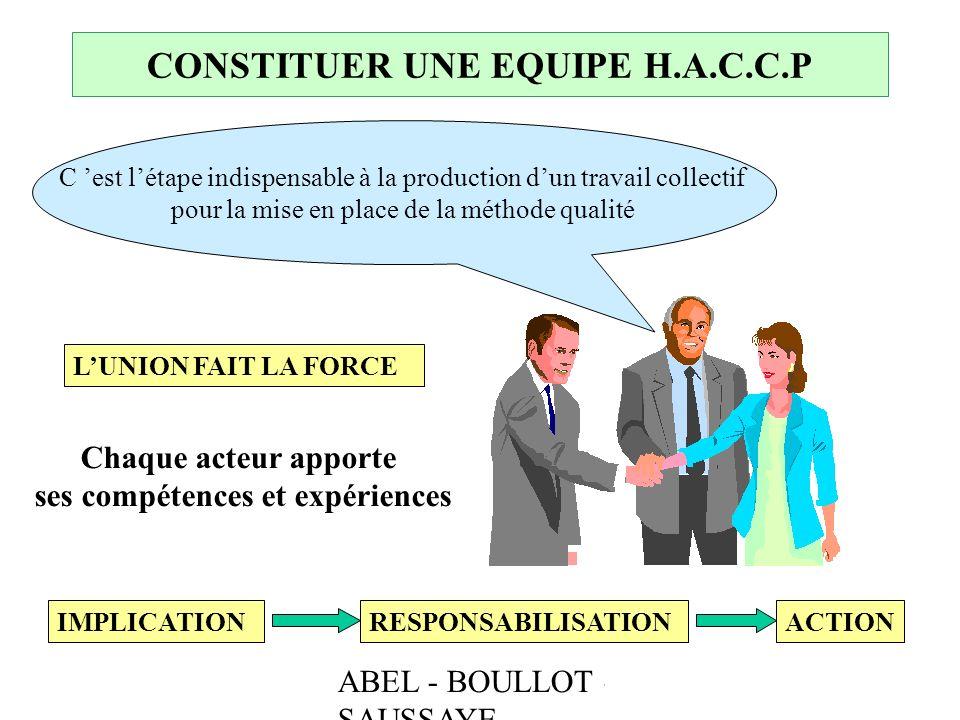 CONSTITUER UNE EQUIPE H.A.C.C.P