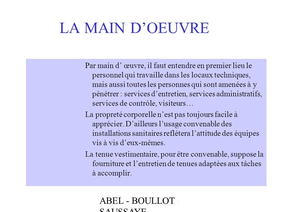 LA MAIN D'OEUVRE ABEL - BOULLOT - SAUSSAYE