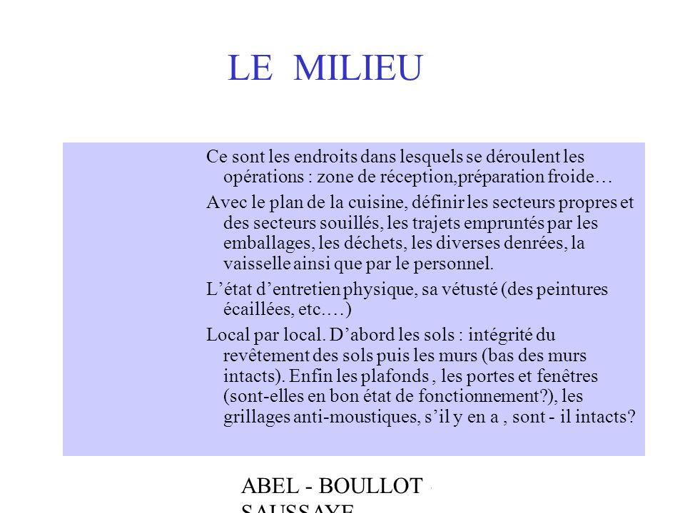 LE MILIEU ABEL - BOULLOT - SAUSSAYE