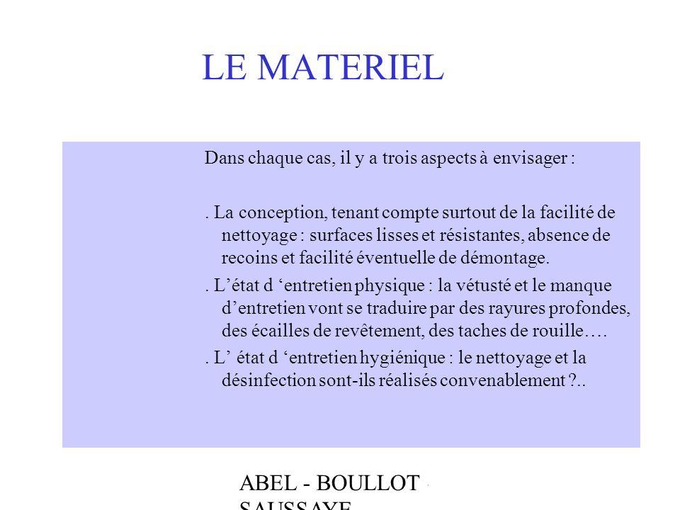 LE MATERIEL ABEL - BOULLOT - SAUSSAYE