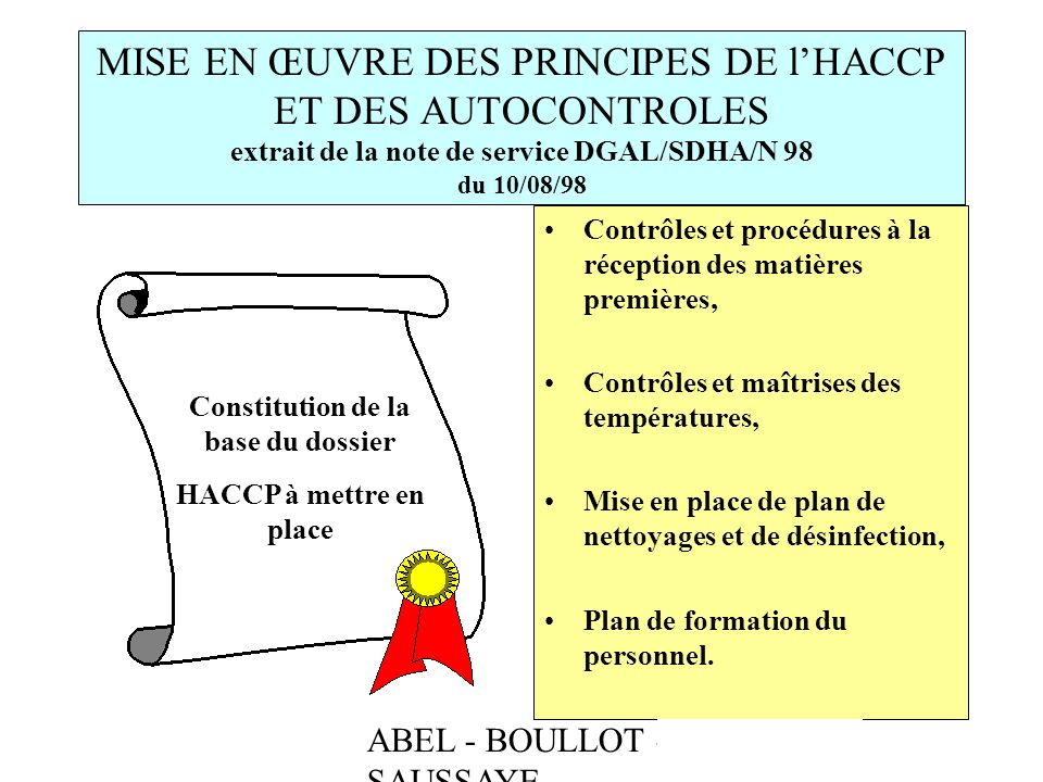 Constitution de la base du dossier