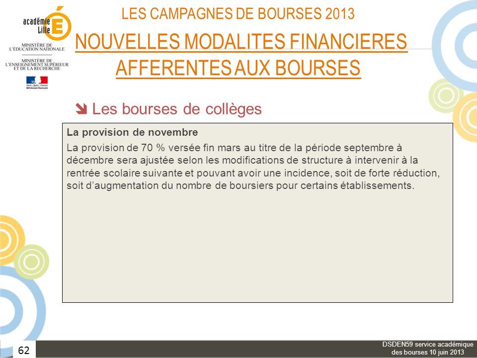 DSDEN59 service académique des bourses 10 juin 2013