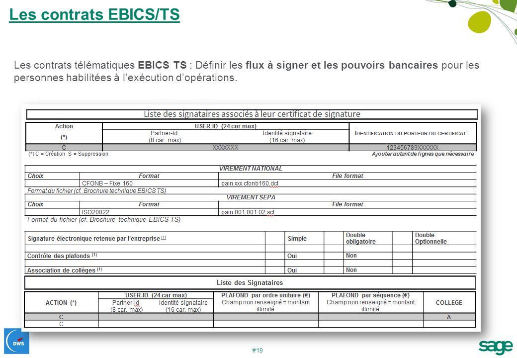 Les contrats EBICS/TS