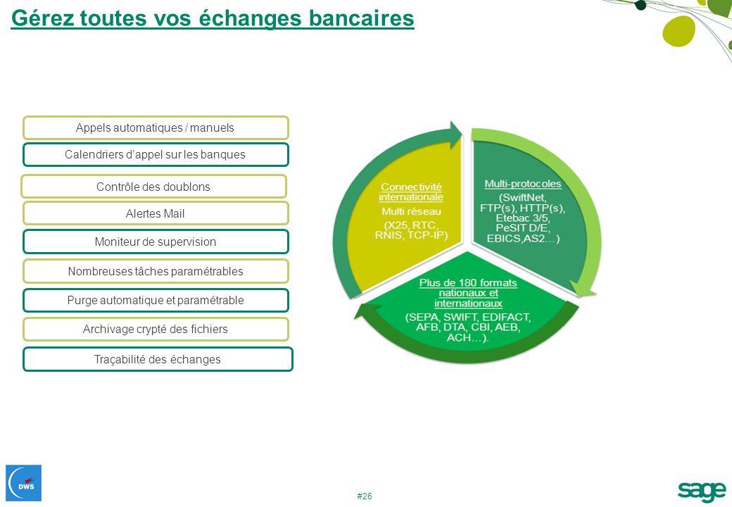 Gérez toutes vos échanges bancaires
