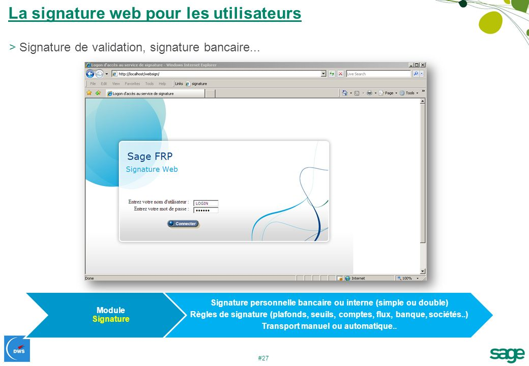 La signature web pour les utilisateurs