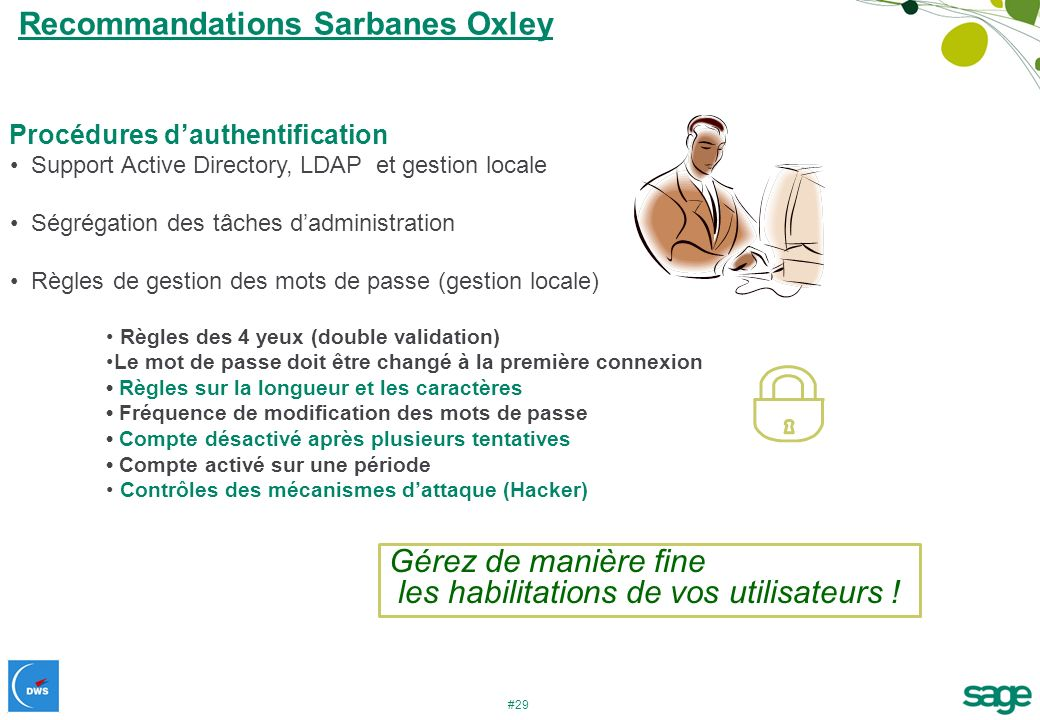 Recommandations Sarbanes Oxley