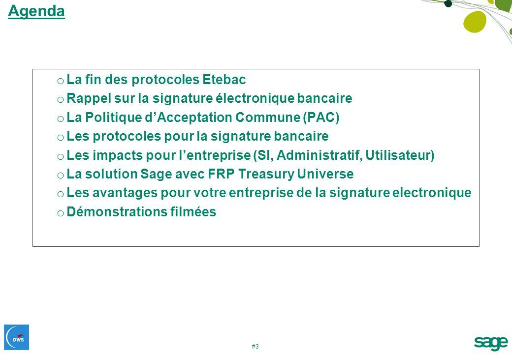 Agenda La fin des protocoles Etebac