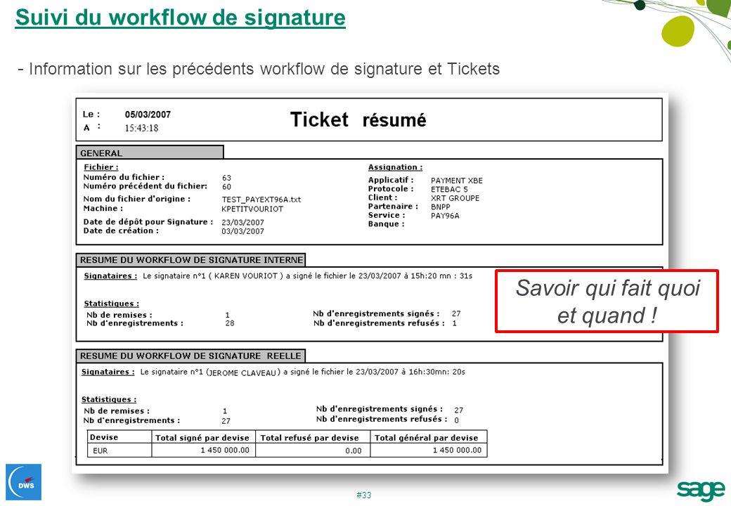 Suivi du workflow de signature
