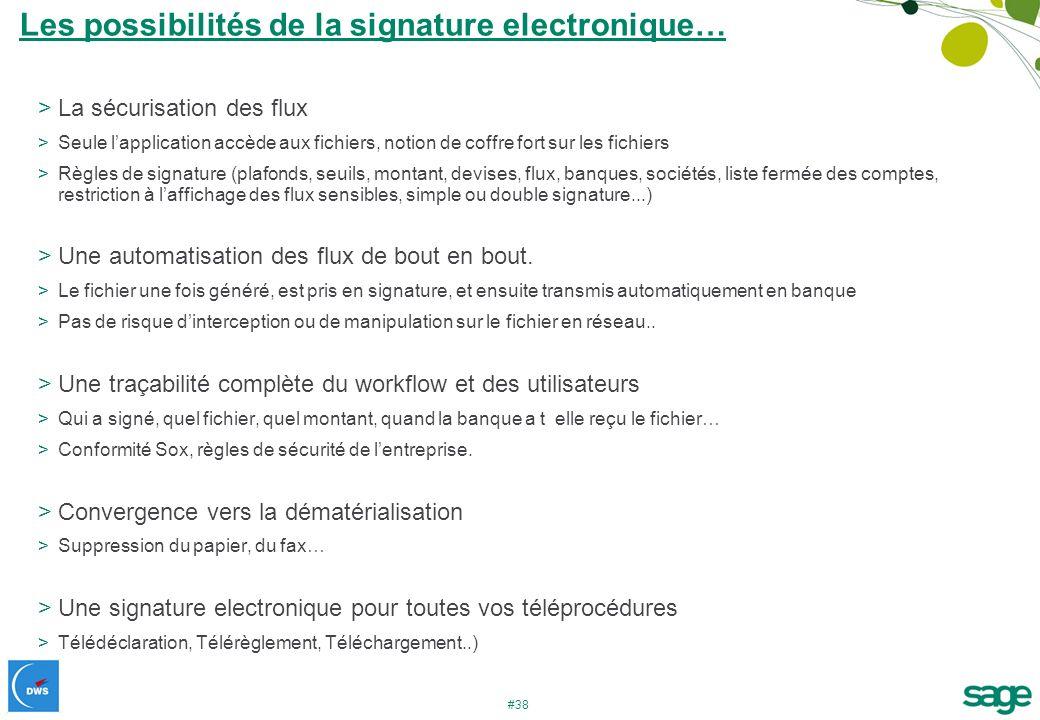Les possibilités de la signature electronique…