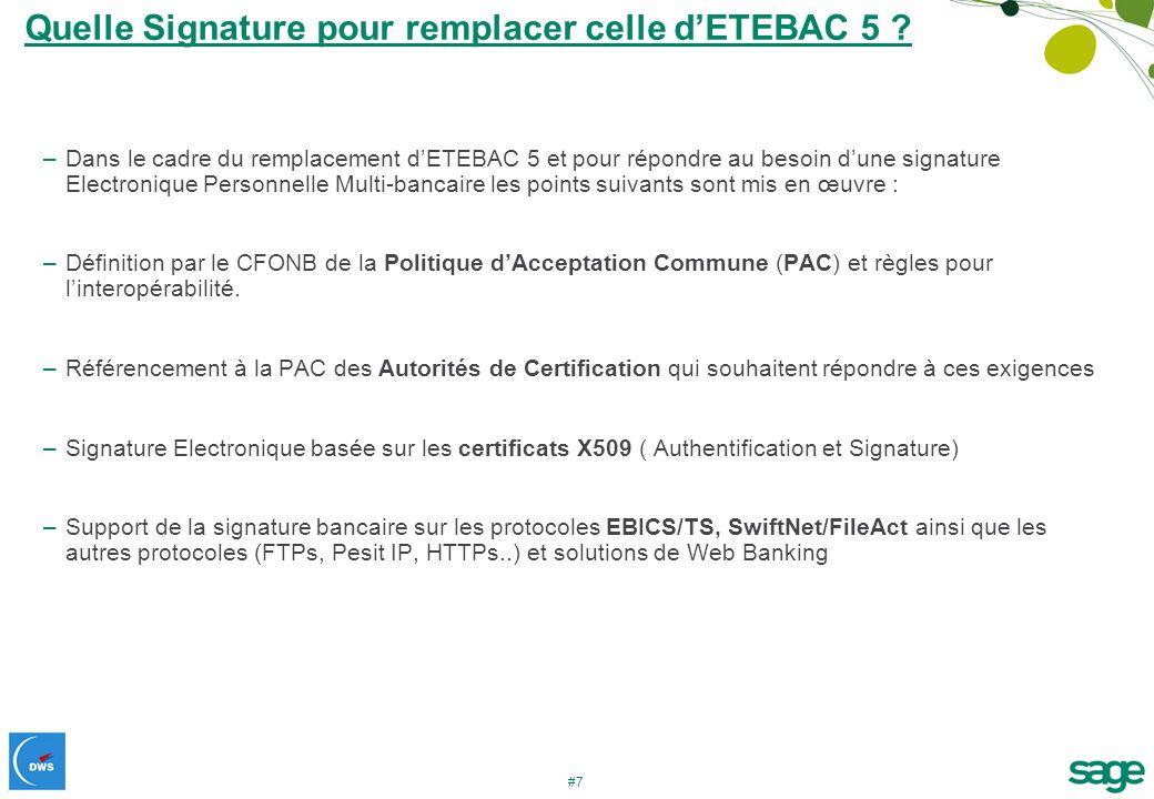 Quelle Signature pour remplacer celle d'ETEBAC 5