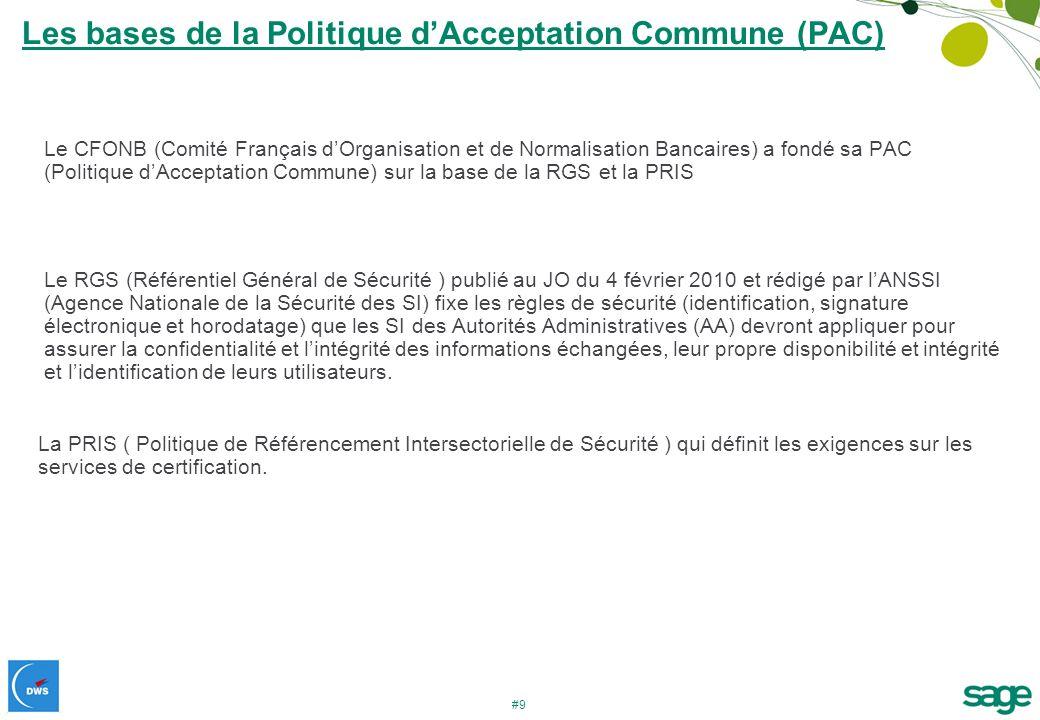 Les bases de la Politique d'Acceptation Commune (PAC)