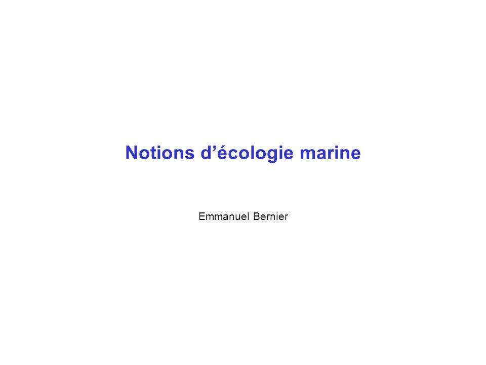 Notions d'écologie marine