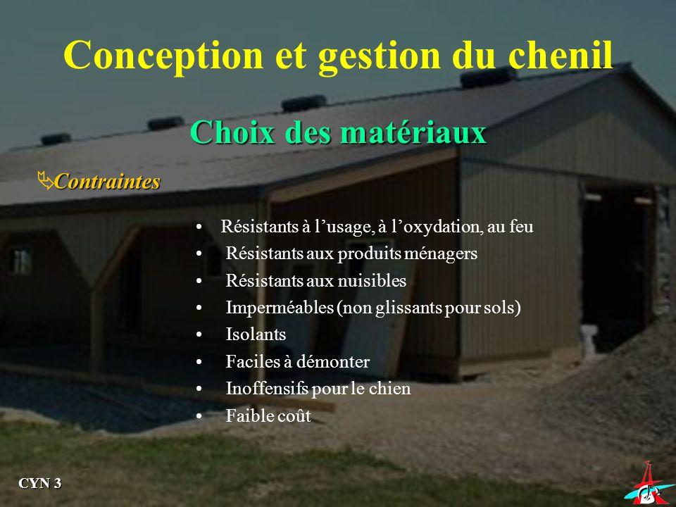 Conception et gestion du chenil