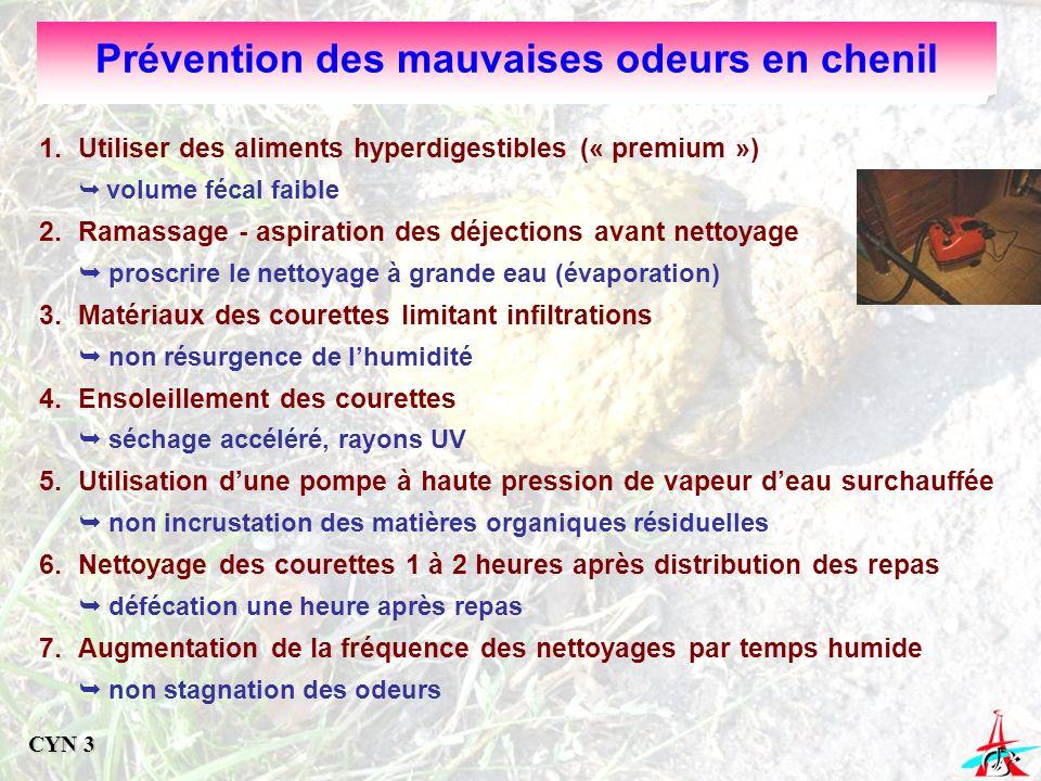 Prévention des mauvaises odeurs en chenil