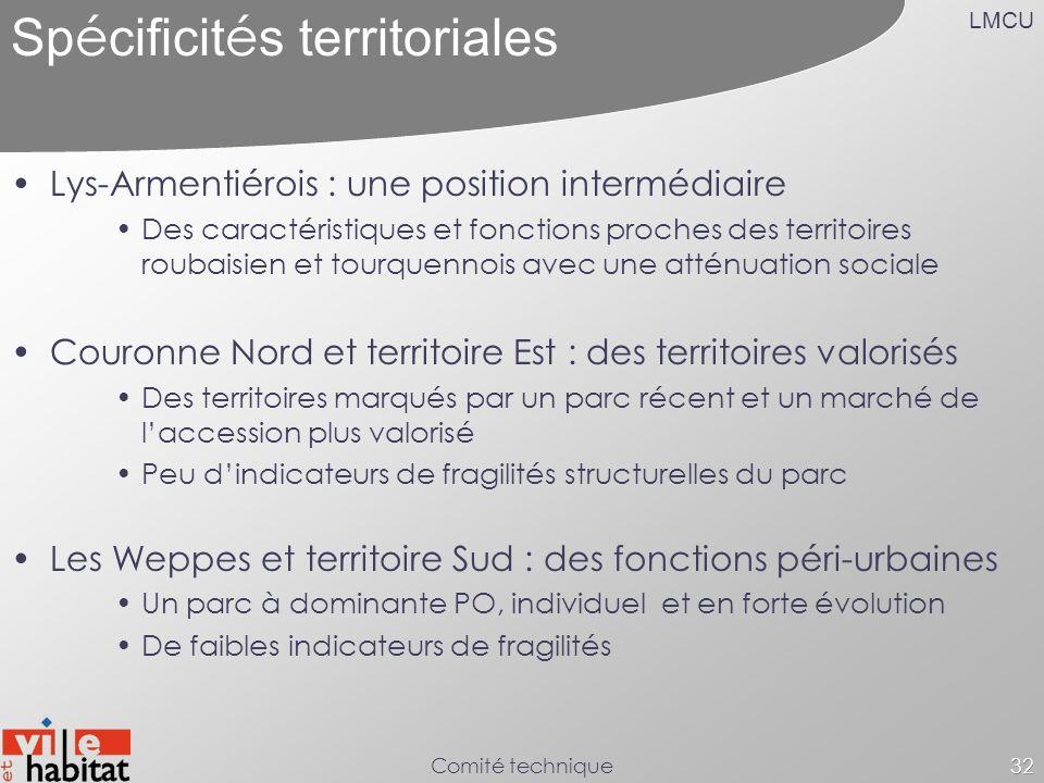 Spécificités territoriales