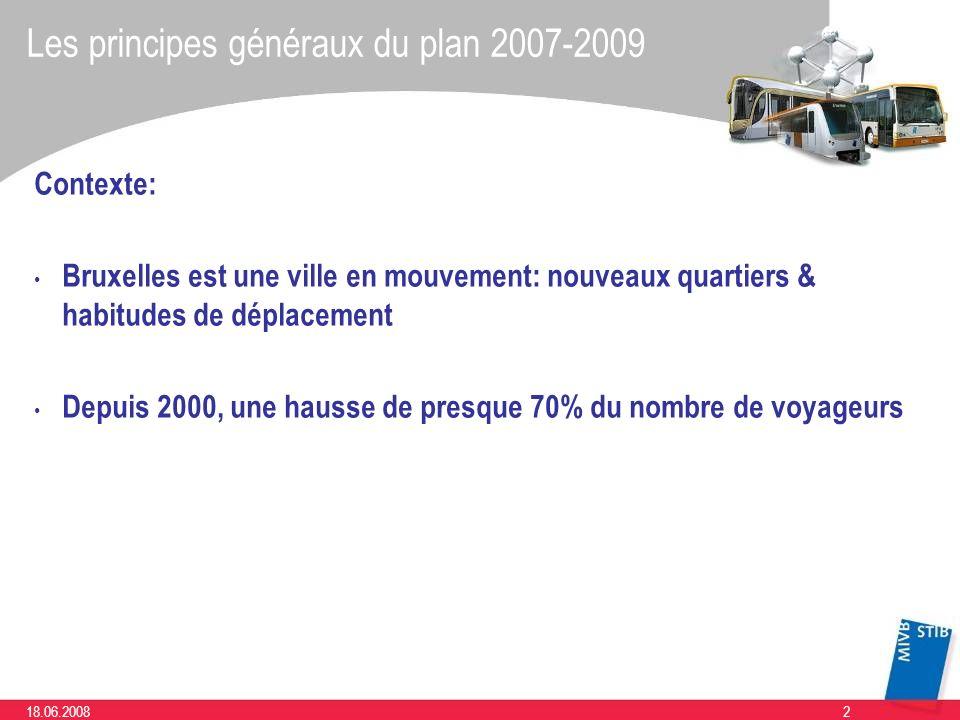 Les principes généraux du plan 2007-2009