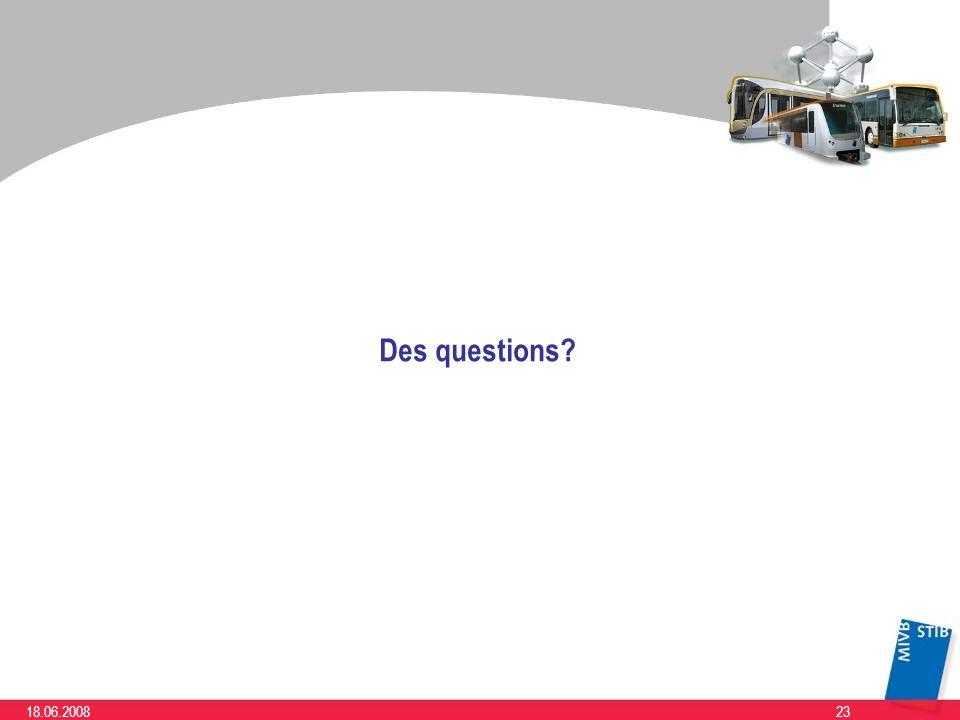 Des questions 18.06.2008