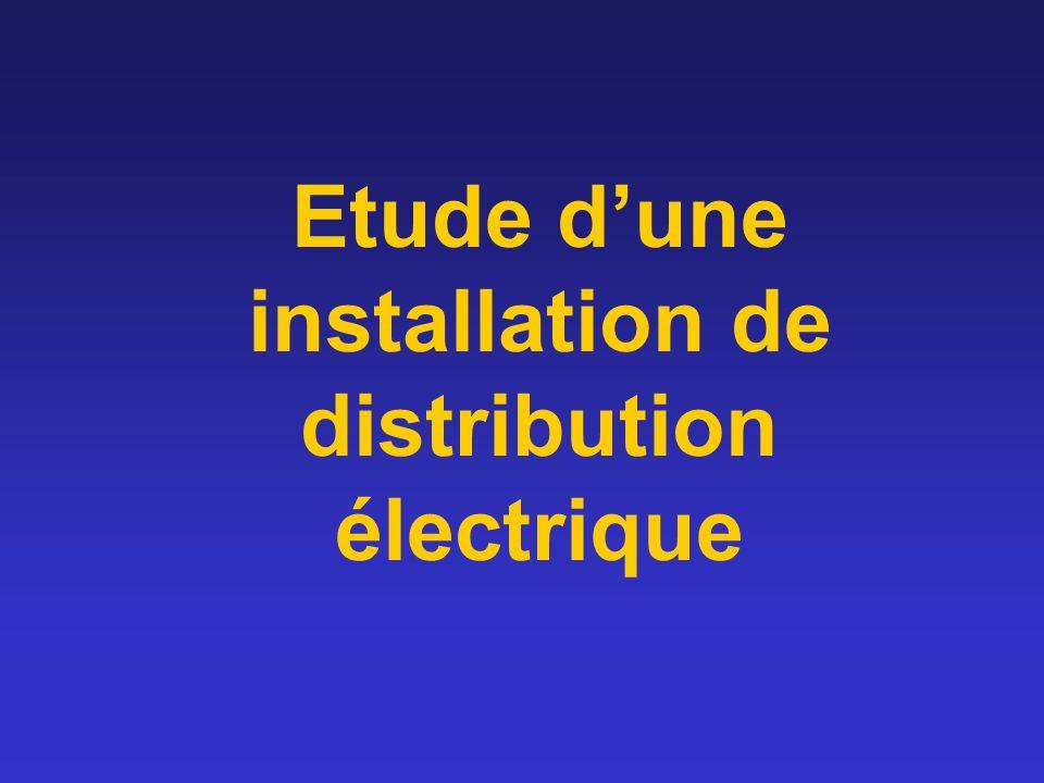 Etude d'une installation de distribution électrique
