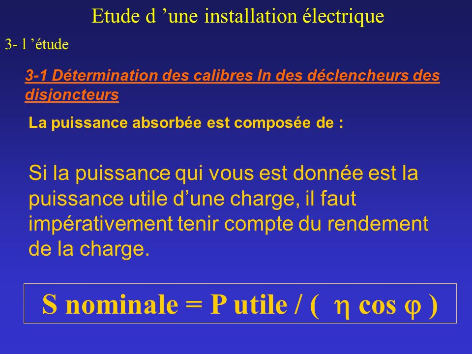 S nominale = P utile / (  cos j )