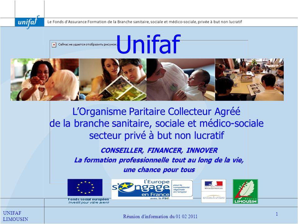 Unifaf L'Organisme Paritaire Collecteur Agréé