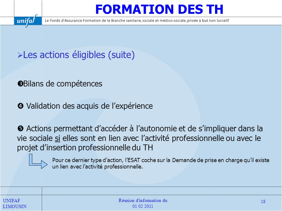 Réunion d information du 01 02 2011