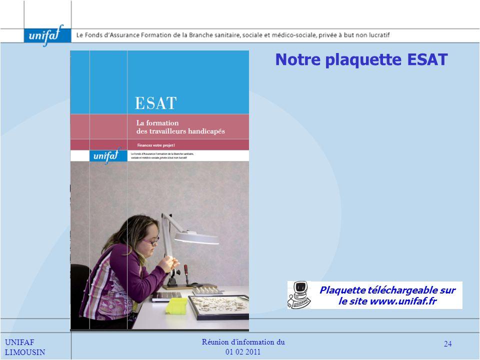Plaquette téléchargeable sur le site www.unifaf.fr