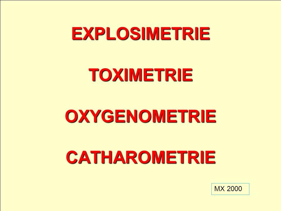 EXPLOSIMETRIE TOXIMETRIE OXYGENOMETRIE CATHAROMETRIE
