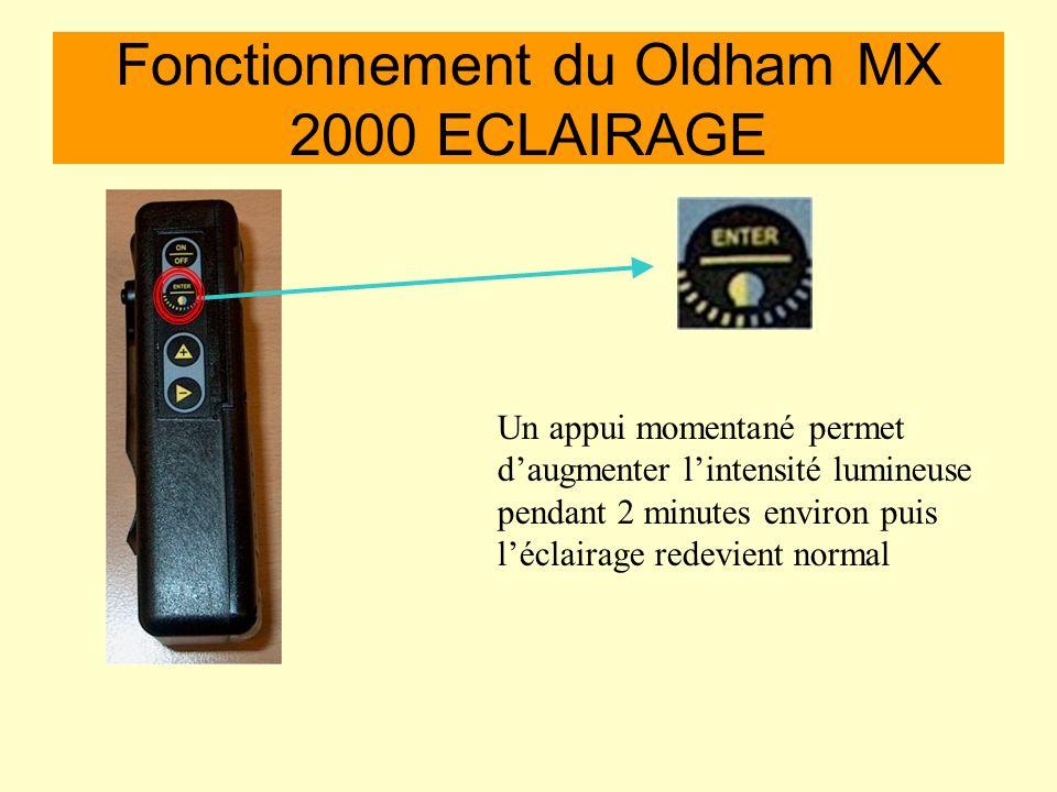 Fonctionnement du Oldham MX 2000 ECLAIRAGE