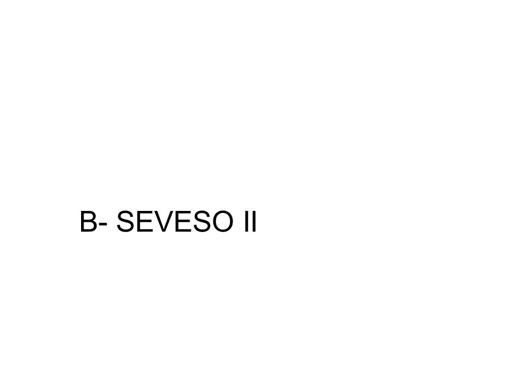 B- SEVESO II