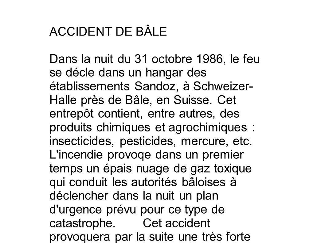 ACCIDENT DE BÂLE