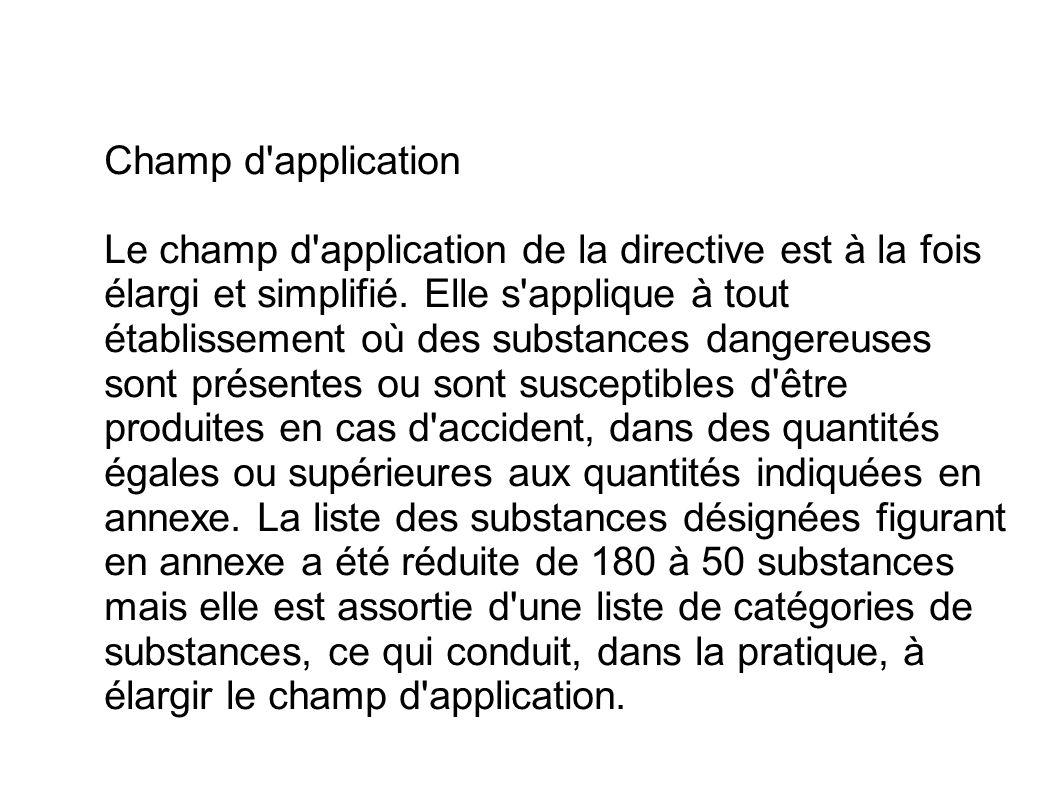 Champ d application