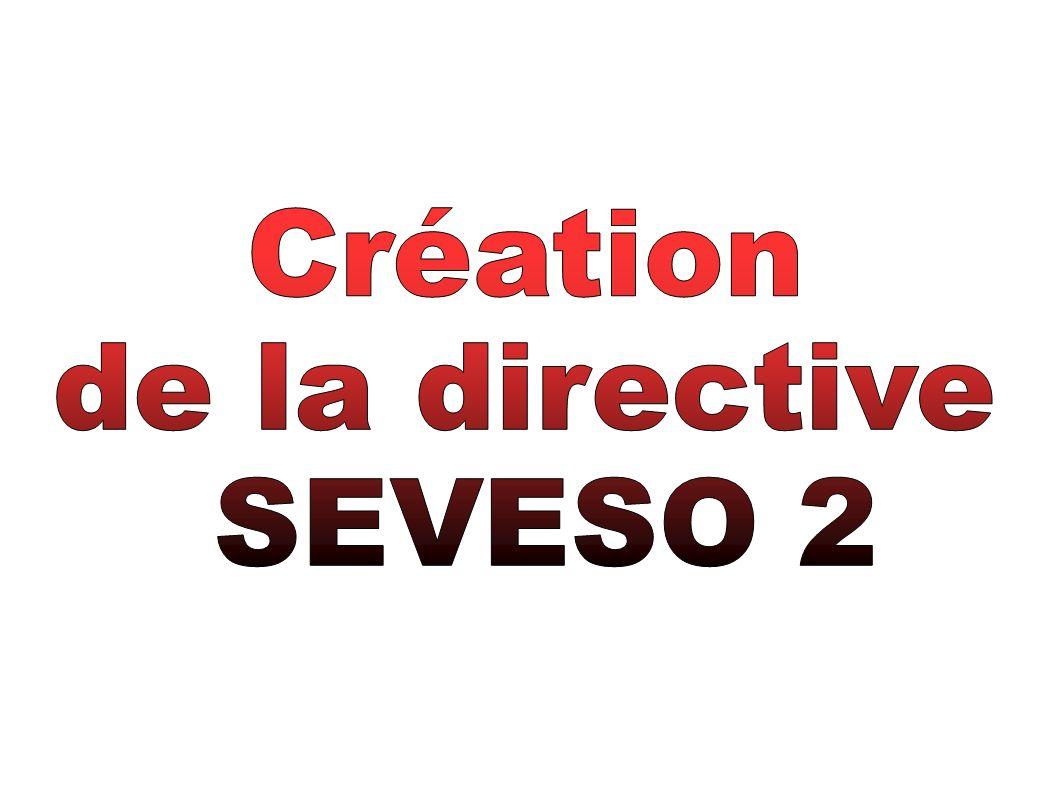 Création de la directive SEVESO 2