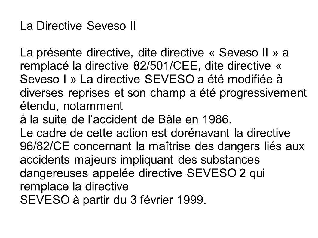 La Directive Seveso II