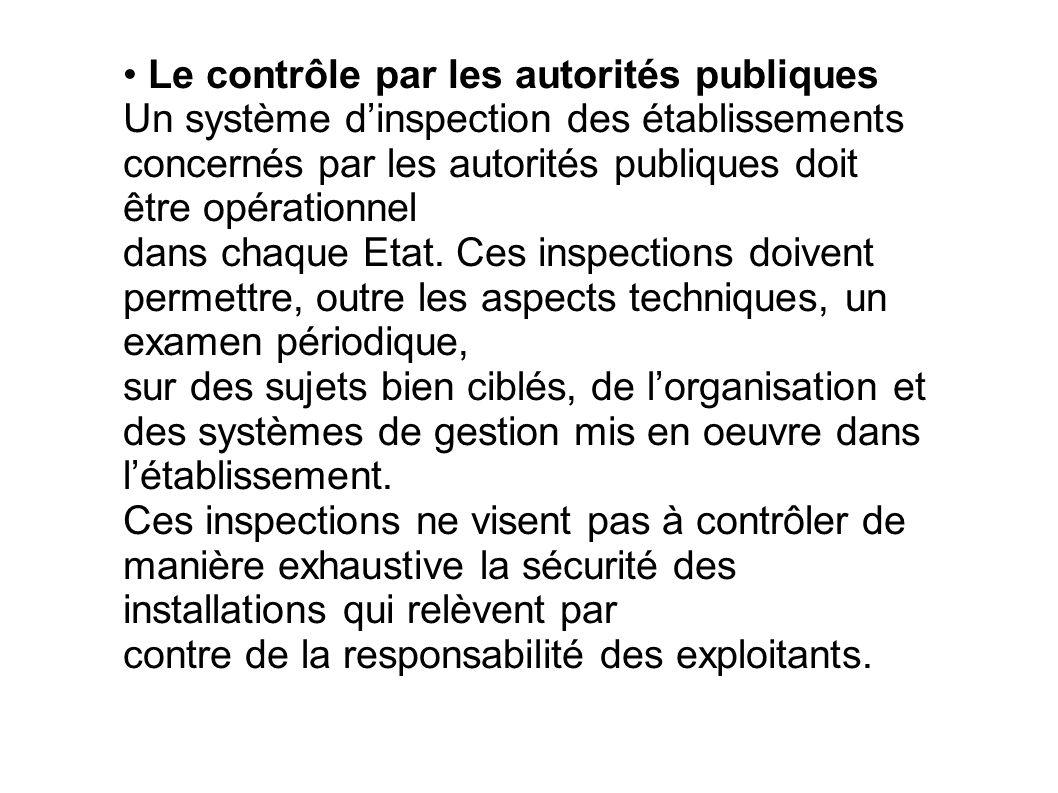 • Le contrôle par les autorités publiques