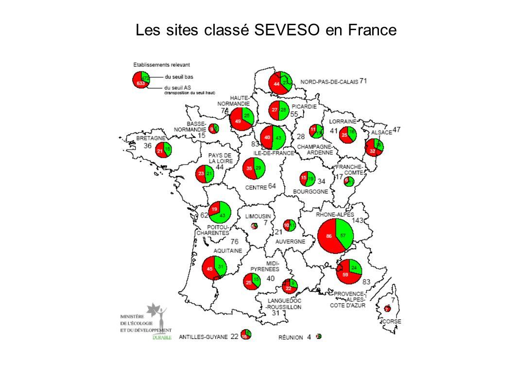 Les sites classé SEVESO en France