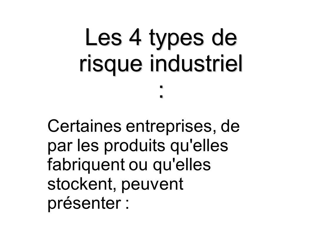 Les 4 types de risque industriel :