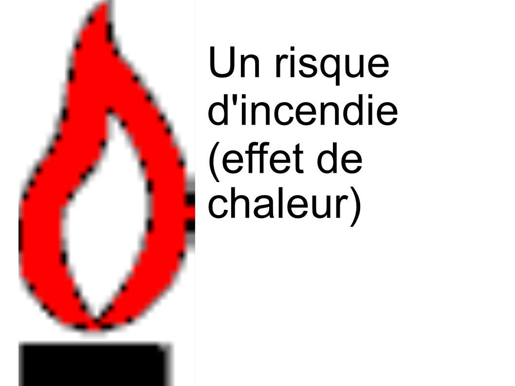 Un risque d incendie (effet de chaleur)