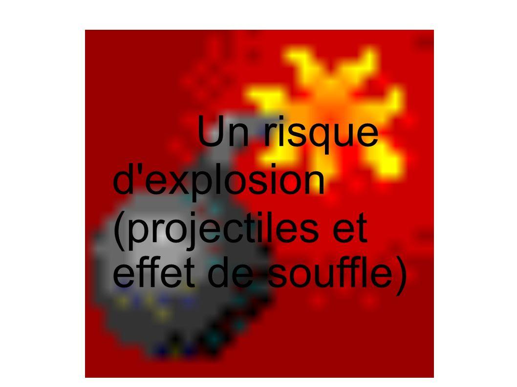 Un risque d explosion (projectiles et effet de souffle)