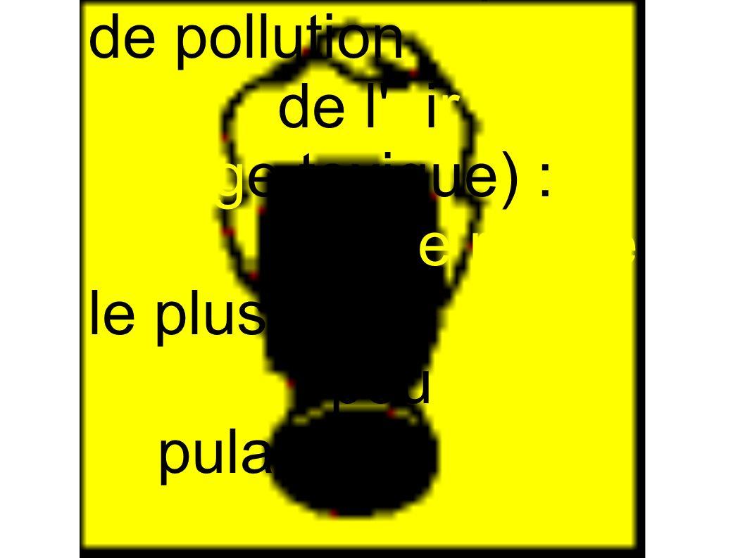 Un risque de pollution de l air (nuage toxique) : c est le risque le plus grave. pour les populations.